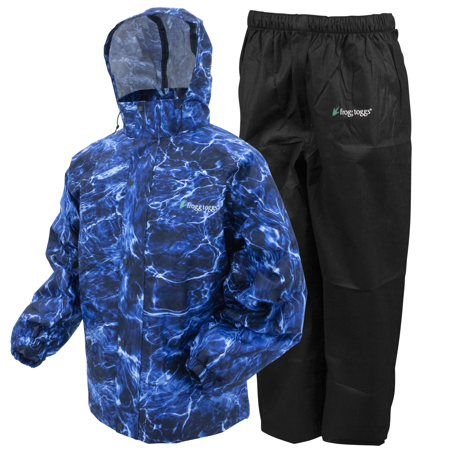 Frogg Toggs All Sport Rain Suit Blue Marlin Black Large