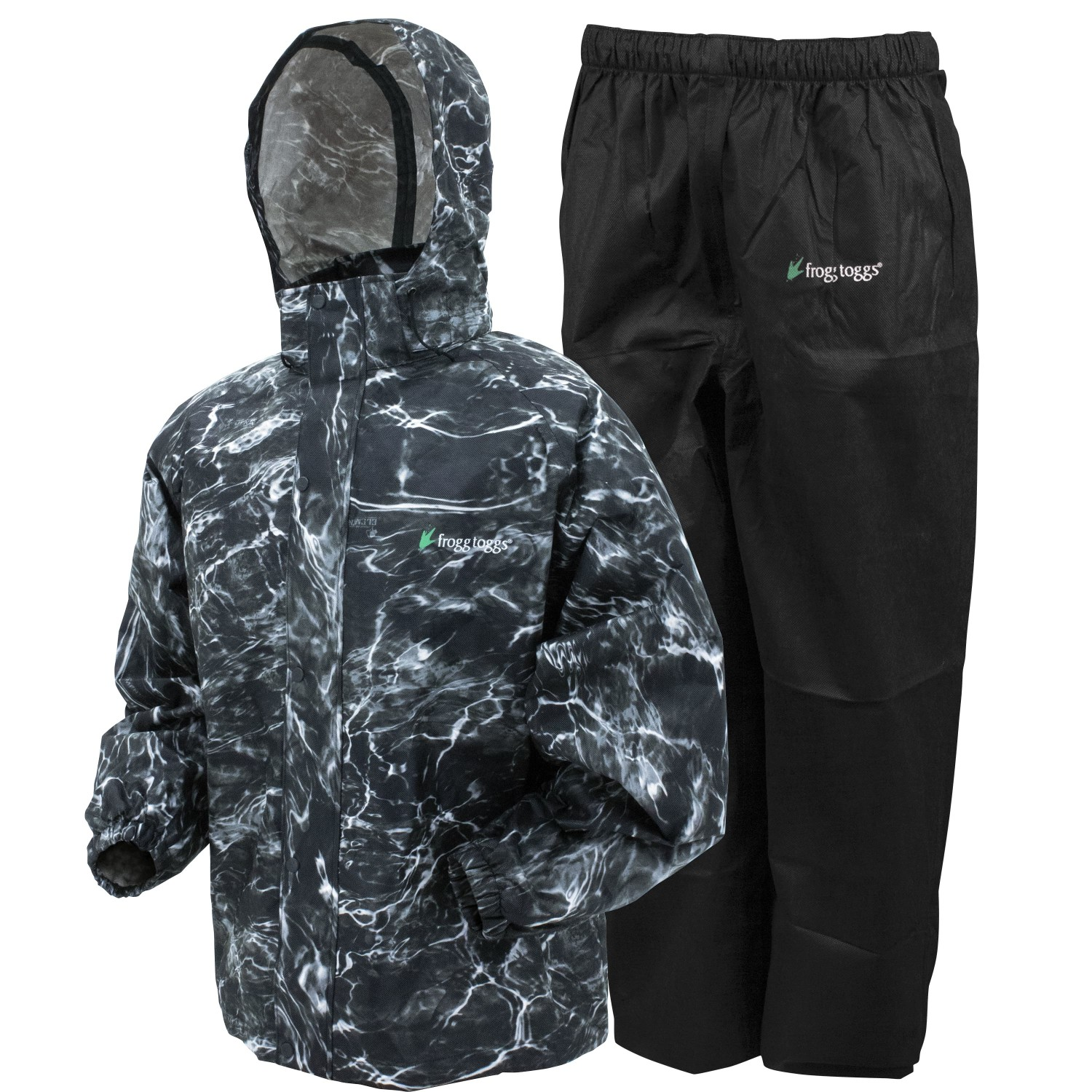 Frogg Toggs All Sport Rain Suit Blacktip Black Large